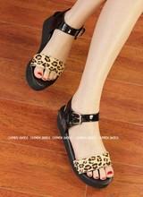 New arrive lady's Comfortable Shoes  brief leopard print wedges sandals platform women's shoes(China (Mainland))
