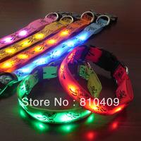 high quality  flashing led dog collar/ Pet collar /led flashing pet collar or cat collar for free shipping