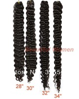"5pcs/lot Human Hair Extensions Brazilian Remy Hair Deep Weave Hair Natural Color 28""-34"" Free Shipping 7649"