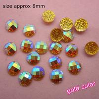 Free Shipping-gold 200pcs super shine Nail Art Decoration glitter stone