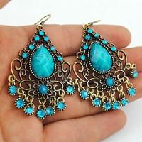 Free shipping Vintage Bohemia Drop Earrings Fashion Tassels Jewelry Wholesale Qulity Guaranteed V-E1076