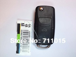vw 3 button remote key shell key blank case only with free shipping 10 pcs a lot(China (Mainland))