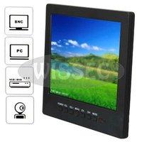 Portable Car LCD 8 inch Color CCTV Monitor with VGA BNC AV Port and Speaker