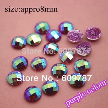 Free Shipping-purple 200pcs super shine Nail Art Decoration glitter stone