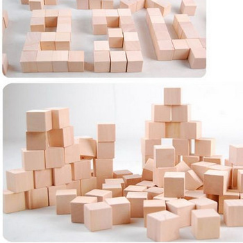 100PCS/LOT.2cm cube,Solid wood cube,Wooden block, Early educational toys,Assemblage block.Kids toys,Freeshipping.Wholesale