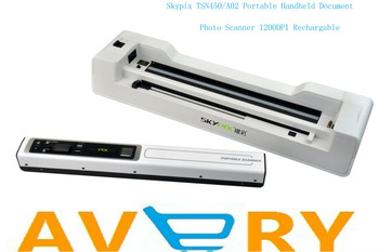 Free Shipping!!Skypix TSN450/A02 Portable Handheld Document/Photo Scanner 1200DPI Rechargable