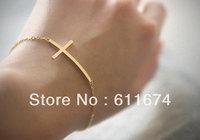 Sideways Cross Bracelet - Gold Filled