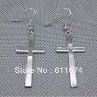 Silver Plated Cross Earrings