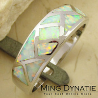 White Fire Opal Silver Fashion  Jewelry Ring OR159B US Size #7 #8 #9 Wholesale & Retail