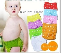 2013 new free shipping 8 pcs diapers+8 pcs liners = 16 pcs Wholesale baby underwear diaper covers pettiskirt  Bloomers Can wash