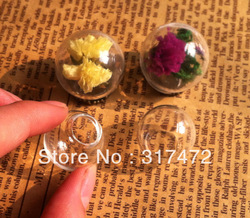 Wholesale 100pcs 20*15mm Glass Bulb Glass Cover Vial DIY Charm Pendant New ( only glass bulb 20mm ball 15mm bottle neck)(China (Mainland))