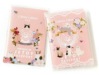 L1010 cute cartoon jetoy transparent passport holder | certificate holder | passport bag South Korea stationery group