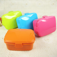 FREE Shipping candy colors double layer lunch box microwavable sushi box kids lunchbox