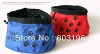 Wholesale Fashion Pet Travel Water Bowl Portable Pet Waterproof Bowl Oxford Cloth Dog Water Bowl 100Pcs/Lot Free Shipping