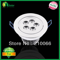 LED 5W Downlights Recessed AC 85V-265V Warm /Cool White + LED Driver Free Shipping 6pcs/lot