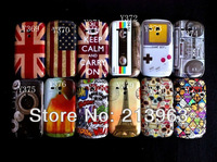 10pcs/lot UK USA flag CD Tape Effiel tower skull head camera design IMD Hard Case for Samsung Galaxy S3 mini i8190