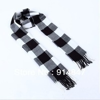 Fashion han man warm scarf classic black and white case grid scarf male warm joker gift