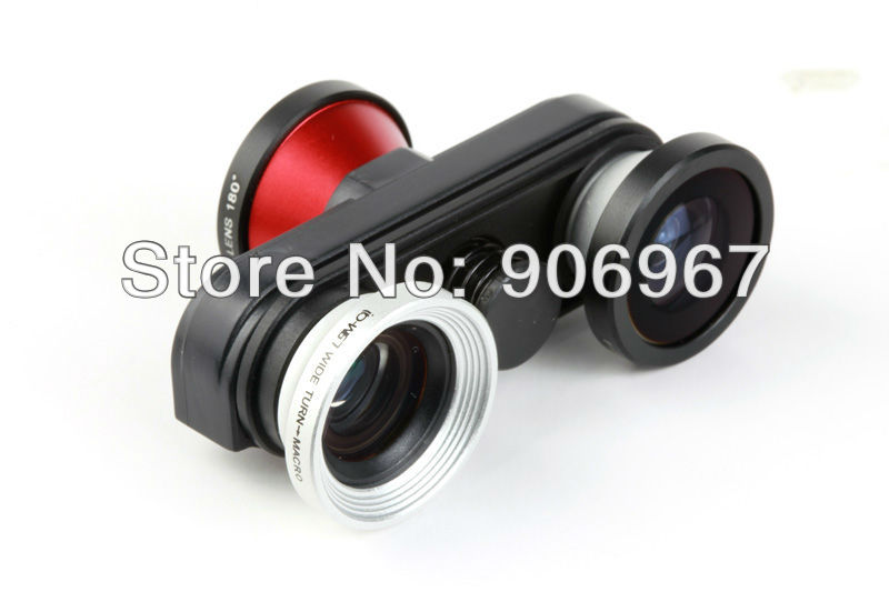 4 IN 1 Rotation rapid conversion lens front camera fisheye lens+wide angle + Macro Lens+ Fisheye lens for iphone 5(China (Mainland))