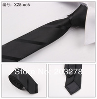 retail sample order men's neck tie black striped classical skinny necktie 5cm high quality drop shipping D34