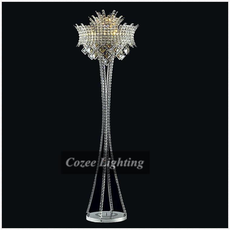 free shipping modern art luxury crystal chandelier floor lamp in. Black Bedroom Furniture Sets. Home Design Ideas