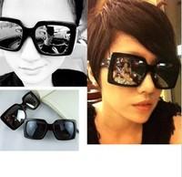 Free shipping hot sell Men and Women fashion Mercury reflective sunglasses big square frame glasses 10pcs/lot wholesale