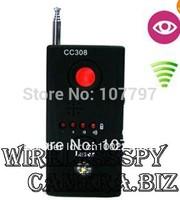 Mini Anti- Rf Signal hidden camera Laser Lens GSM bug detector device finder tracking CC308