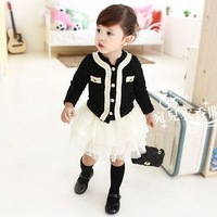 Small outerwear blazer set children's clothing 2012 autumn female child parent-child fashion clothes for mother and daughter