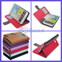 For Samsung Galaxy Note 2 N7100 Pouch Leather Case With Stand