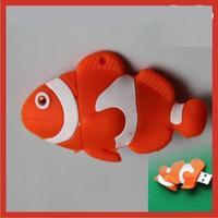 Wholesale!Beautiful clown fish Cartoon alien model USB 2.0 enough memory stick 16G 32G 64G 128G P14