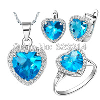 crystal jewelry sets FREE SHIPPING new arrival platinum plating fashion jewelry sets rings