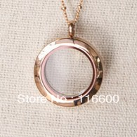 2013 hot sale 316L charm locket floating stainless steel rose gold pendant(China (Mainland))