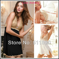 Free Shipping sexy women sleepwear,nightdress,VS forever sexy babydoll,ladies' pajamas,High Quality,2 colors(China (Mainland))