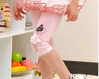 2013New Arrivals leggings Lace Girls leggings baby Lace candy leggings kids cottoon leggings tights legging wholesale 5PCS