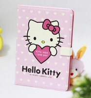 Free Shipping PU Leather Hello Kitty Case with Stand for iPad Mini