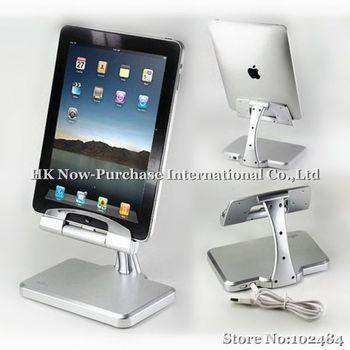 New Aluminium iPega Charging Stand Holder for iPad2 & the New iPad /iPad3  Silver &Drop Shipping