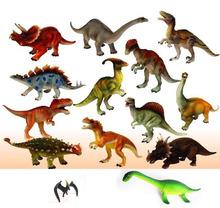 transporte livre brinquedo grande modelo de dinossauro 12 pic / lote brinquedo brinquedos do dinossauro modelo animal boneca de 15 18 centímetros 12 tipos dinossauro Jurassic Park(China (Mainland))