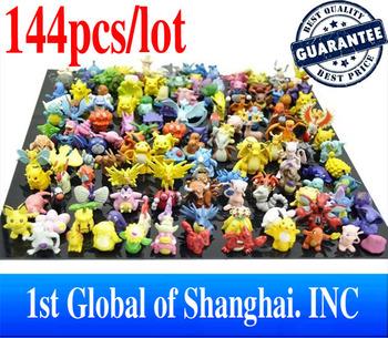 Free Shipping 2013 New Designer Kids toys 144pcs/lot 2-3cm PVC Mini Pokemon Action Figures Toys For Children