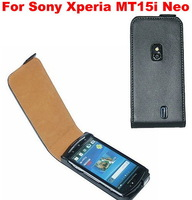 Genuine Leather Case Mobile Phone Case Cover For Sony Ericsson Xperia Mt15i Neo / Neo V