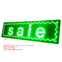 P10 Semi-out  Green color led moving board led display board led pannel,led signs