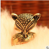 0185 small accessories fashion vintage fox ring finger ring