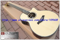 Wholesale - Classic Natural Tayl Acoustic Guitar Best High Quality Ebony flower fret inlay fishmen EQ Musical instruments
