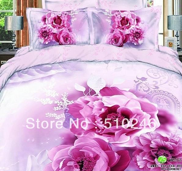 de 4 pcs ensembles de literie couette drap de lit couvre le linge de l bed mattress sale