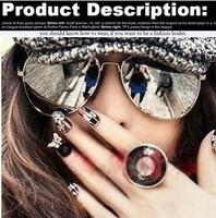 Free shipping 2013 Hot !!!Brand Reflective Sunglasses Unisex Retro for Women Gold metal Rim Glasses Sports for Men 10pcs/lot
