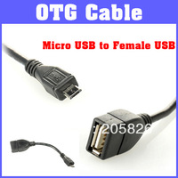 Free Shipping High Quality USB Host OTG Cable Micro USB to Female USB for Samsung Galaxy S3/i9300/SGH-I747/SGH-T999