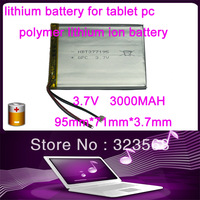 3.7V 3000mah (polymer lithium ion battery) Li-ion battery for tablet pc 7 inch MP3 MP4 [377195] Free Shipping