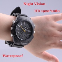 New 4GB/8GB Full HD1080P Wrist Watch with Hidden Camera Infrared Night Vision Waterproof 1920*1080 Watch Mini DVR