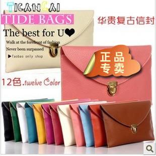 Candy multicolor Fashion Women's Envelope Clutch Chain Purse Lady Handbag Tote Shoulder Hand Bag free shipping wholesale B105