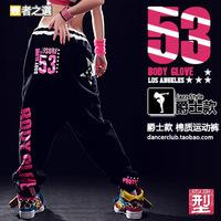 New 2014 Hip hop pants Neon letter Sports pants Women loose trousers Fashion women joggers HIPHOP dance pants jogging femme