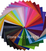 SPECIAL OFFER 42 MIX COLOR Felt Fabric Polyester DIY felt fabric non-woven 30CM X 30CM free shipping