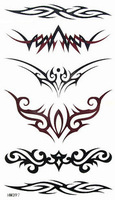 Small slitless tattoo stickers waterproof male Women armlessly pattern